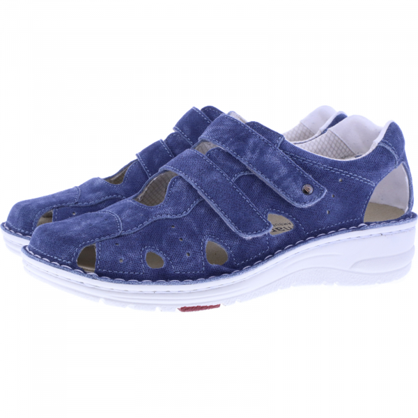 Berkemann / Modell: Larena / Washed Jeans Leder / Form: Lugano / Art: 03100-309 / Damen