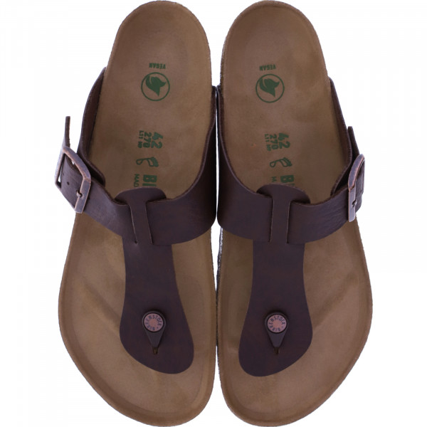 Birkenstock Vegan / Modell: Medina / Saddle Matt Brown / Weite: Normal / Art: 1015534 / Herren