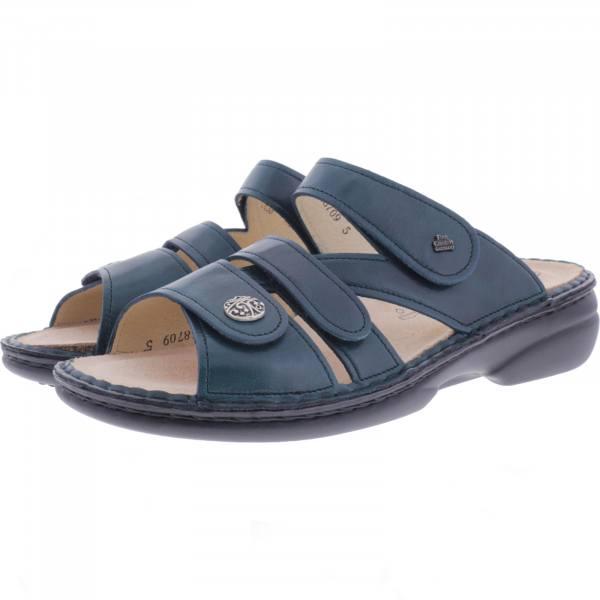 Finn Comfort / Ventura-Soft / Bottle Blau / Wechselfußbett / Art: 82568-176379 / Damen Pantolette