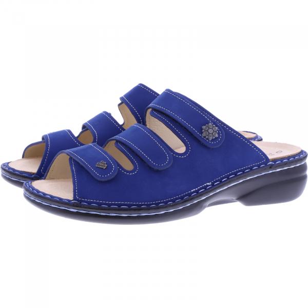 Finn Comfort / Menorca-Soft / Kobalt Blau / Wechselfußbett / Art: 82564-007440 / Damen Pantoletten