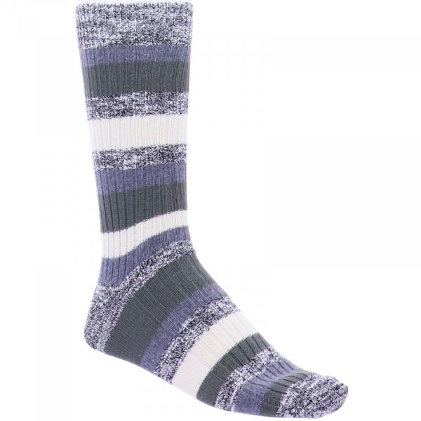 Birkenstock Herren Socken - Slub Stripes - Bungee Cord - Grau/Oliv/Beige