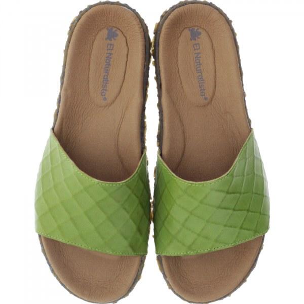 El Naturalista / Modell: N5502 Redes / Farbe: Vaquetilla Lime Grün / Damen Pantoletten