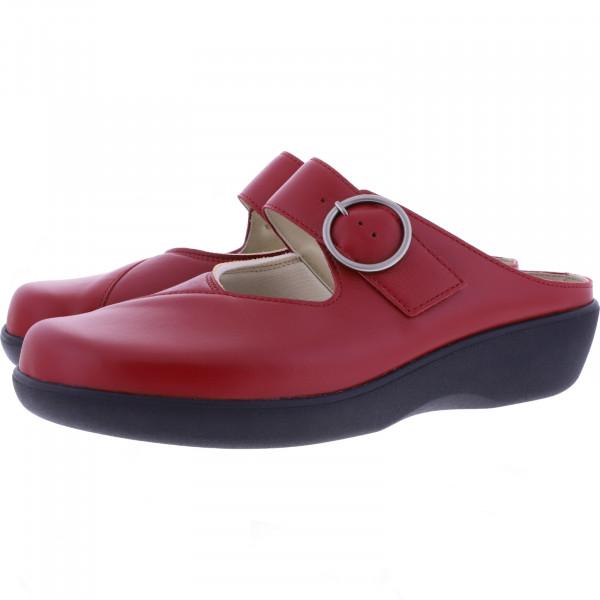 Berkemann / Modell: Robina / Signalrot Leder-Stretch / Form: Arona / Art: 05052-283 / Damen Clogs