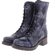 Brako / Modell: Military Tay / Marino Blau Metallic Leder / Stiefel / Art: 8470 / Damen Stiefel