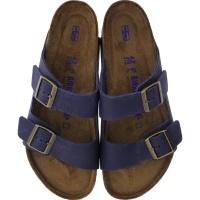 Birkenstock / Modell: Arizona / Indigo-Blau Naturleder / Weite: Normal / Art: 1008925 / Weichbettung