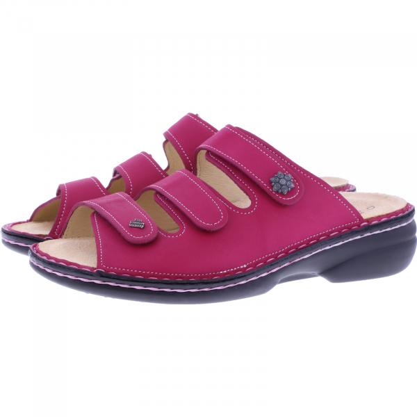 Finn Comfort / Menorca-Soft / Berry Pink / Wechselfußbett / Art: 82564-391378 / Damen Pantoletten
