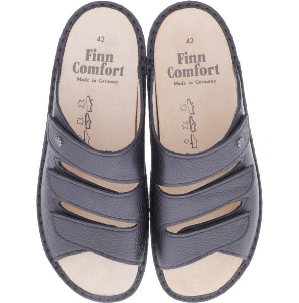 "Finn Comfort ""Classic"" Korfu, Pantolette, Schwarz, Bisonleder"