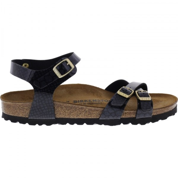 Black Birkenstock Papillio shoe KUMBA MAGIC SNAKE PO7ITa3e