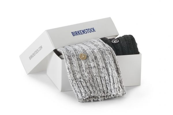 Birkenstock Damen Socken X-Mas Box Bling - Cotton Socken 2-Pack - Schwarz-Grau