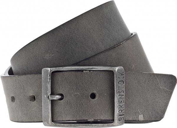 Birkenstock Gürtel / Modell: Kansas / Breite: 35mm / Grau Leder / Unisex Gürtel
