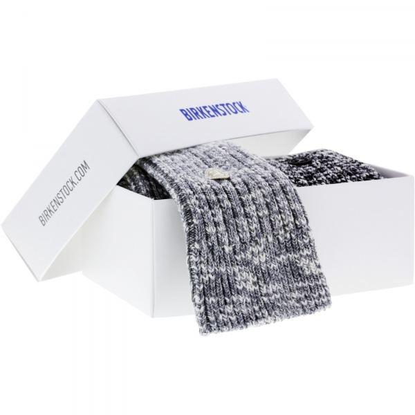 Birkenstock Damen Socken X-Mas Box Slub - Cotton Socken 2-Pack - Grau-Schwarz