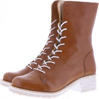 Brako / Modell: Military Roma / Cuero Braun Glattleder / Art: 8470 / Damen Stiefel