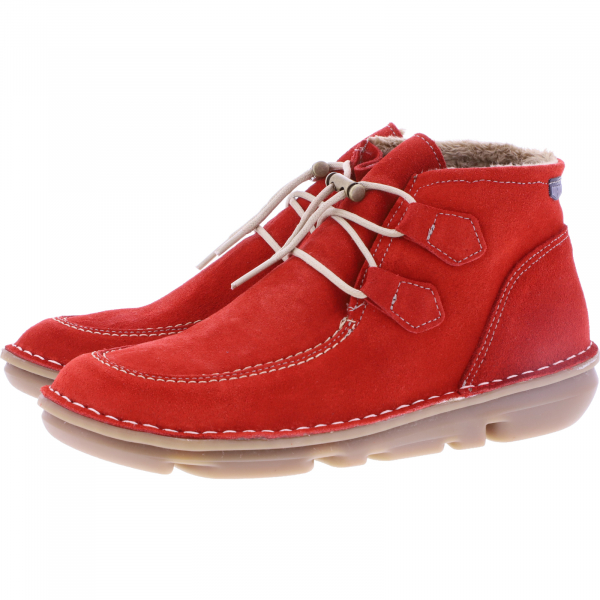 OnFoot / Modell: Silken High / Farbe: Rojo Rot Leder / Art.: 30500 / Damen Stiefletten
