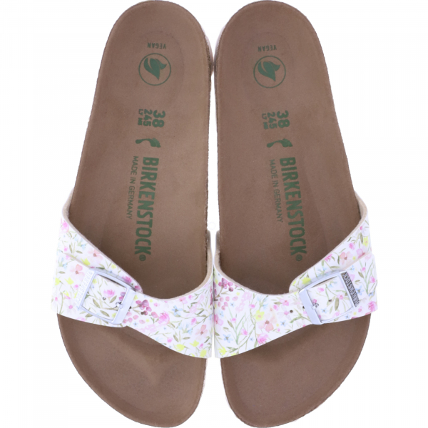 Birkenstock / Modell: Madrid / Watercolor Flower White BF / Weite: Schmal / Art: 1020007 / Damen