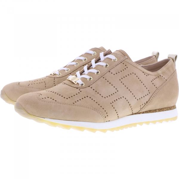 Hassia / Barcelona / Creme-Platin Leder / Wechselfußbett / Art: 1-301952-1275 / Damen Sneakers
