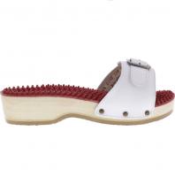 Berkemann / Noppen-Sandale mit Absatz / Weiß Kalbsleder / Art: 00108-100 / Damen
