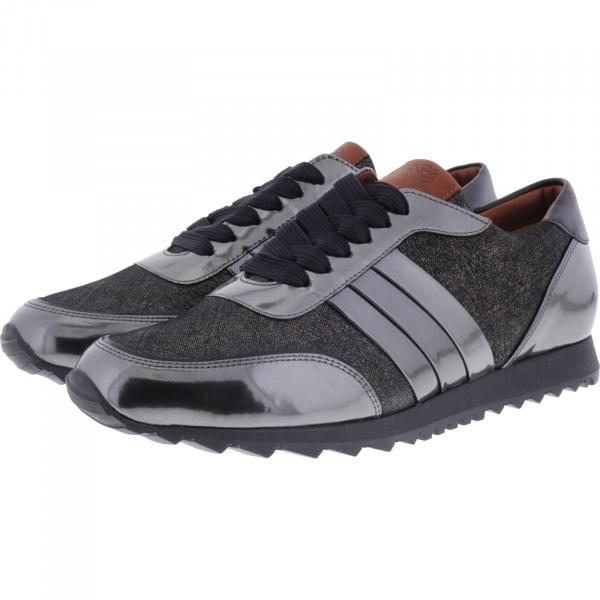 Hassia / Barcelona / Anthrazit-Schwarz Leder / Wechselfußbett / Art: 6-301983-6201 / Damen Sneaker