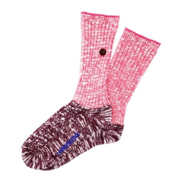 Birkenstock Damen Socken - Cotton Slub Block - Windsor-Wine Meliert