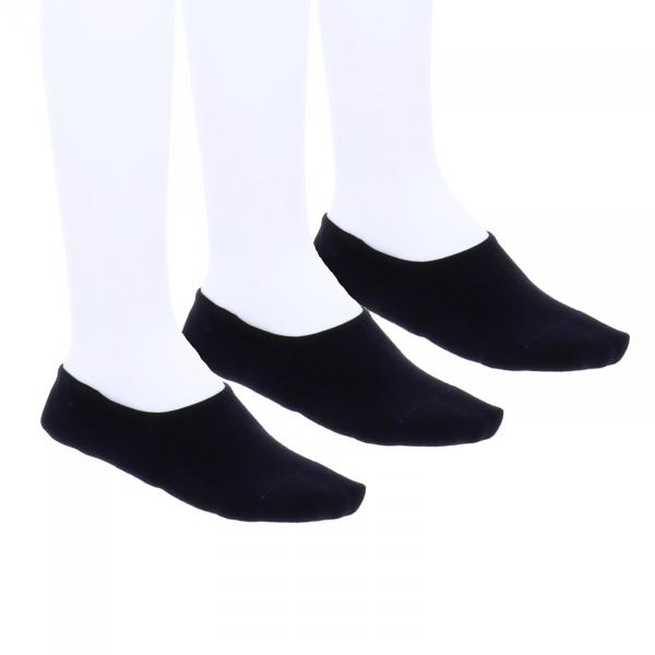 Birkenstock Herren Socken - Cotton Sole Invisible - 3er Pack - Schwarz - Birkenstock Füßlinge