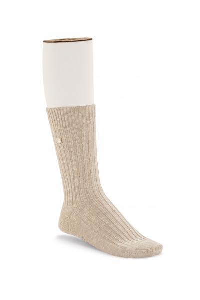 Birkenstock Damen Socken - Cotton Slub - Beige-Weiß Meliert