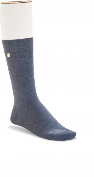 Birkenstock Damen Socken - Cotton Sole - Jeans Blau Melange