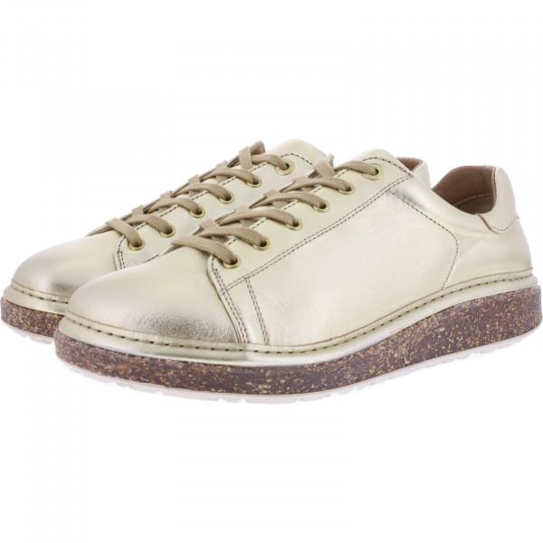 Birkenstock / Modell: San Diego / Gold Leder / Weite: Normal / Art: 1016258 / Damen Schuhe