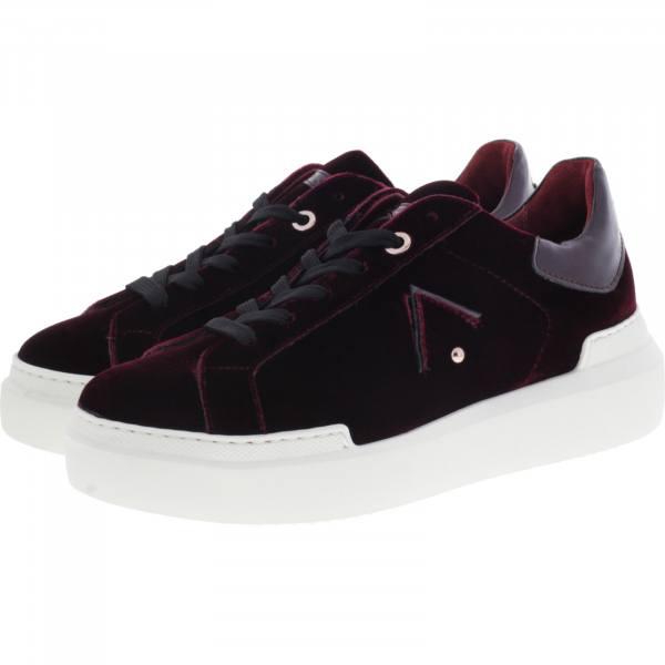 Ed Parrish Sneakers / Modell: Sarah / Bordeaux Samt / Wechselfußbett / Damen Sneakers
