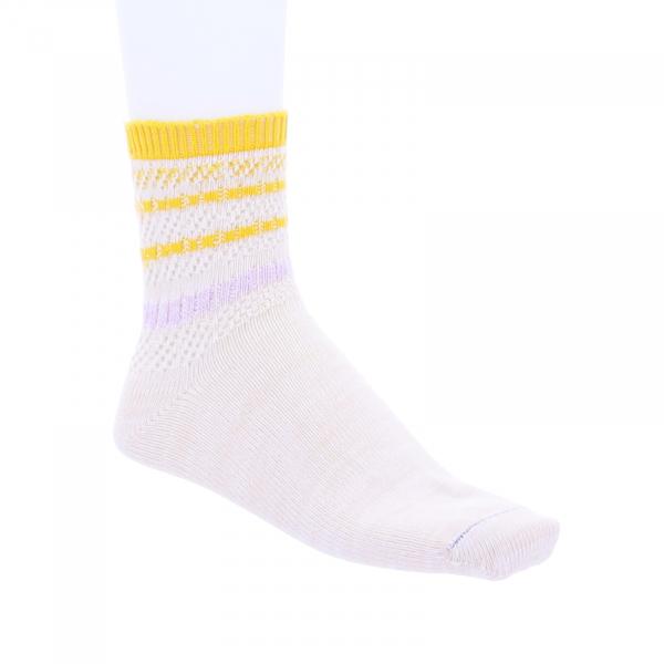 Birkenstock Damen Socken - Cotton Twist Ajour - White-Gelb