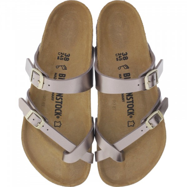 Birkenstock / Modell: Mayari / Electric Metallic Taupe / Weite: Normal / Art: 1012977 / Damen