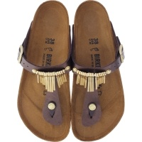 Birkenstock / Modell: Gizeh Fringe / Graceful Toffee / Weite: Normal / Art: 745431 / Damen