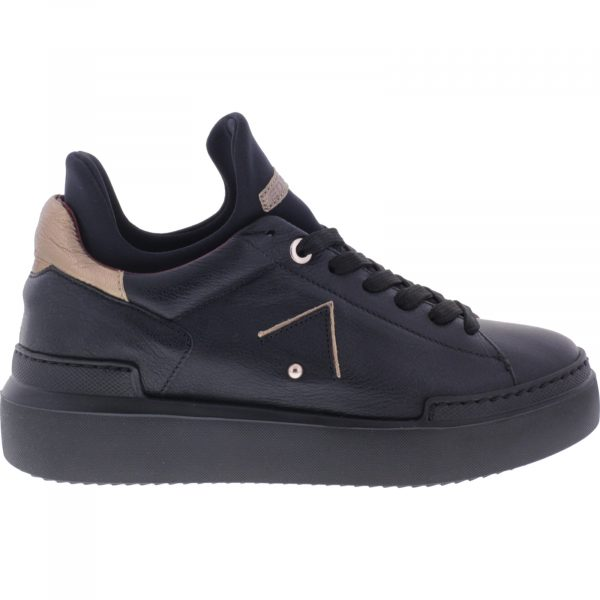 Ed Parrish Sneakers / Modell: Elisa High / Nero-Champagner / Wechselfußbett / Damen Sneakers