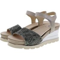 Brako / Modell: Eva Dana / Kaki-Beige Leder / Wechselfußbett / Art: 6036 / Damen Sandalette