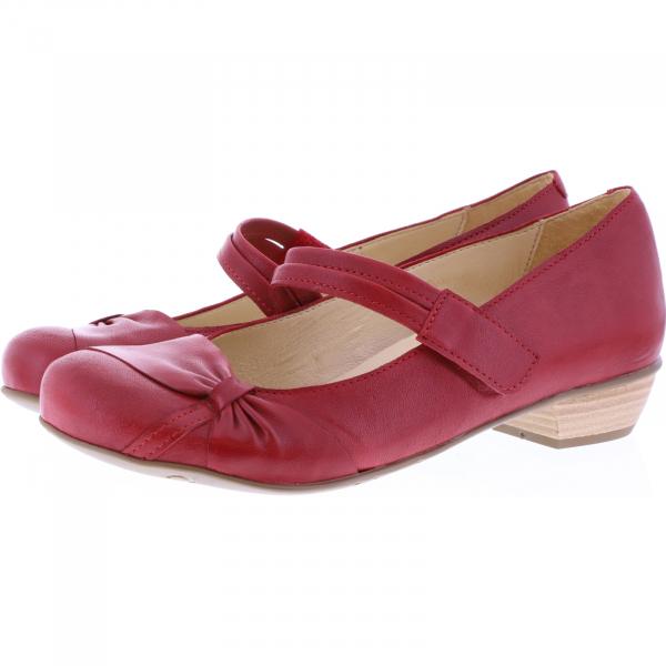 Brako / Modell: Bem / Rojo-Rot Leder / Art: 6467 / Damen Ballerinas