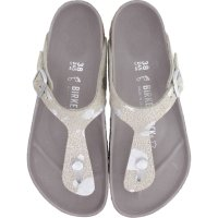 Birkenstock / Modell: Gizeh Hex / Spotted Metallic Silver / Weite: Normal / Art: 1006743 / Damen