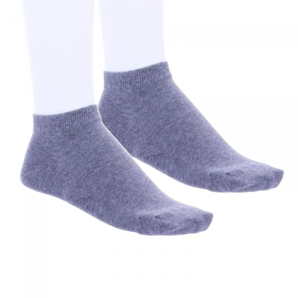 Birkenstock Damen Sneaker Socken - Cotton Sole Sneaker 2-Pack - Grau Melange