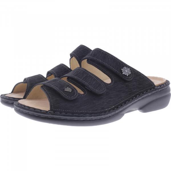 Finn Comfort / Menorca-Soft / Schwazr Waving / Wechselfußbett / Art: 82564-589099 / Damen Pantoletten