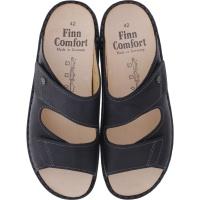 Finn Comfort / Riad / Schwarz Nuri Leder / Wechselfußbett / Art: 01505-615099 / Herren Pantoletten