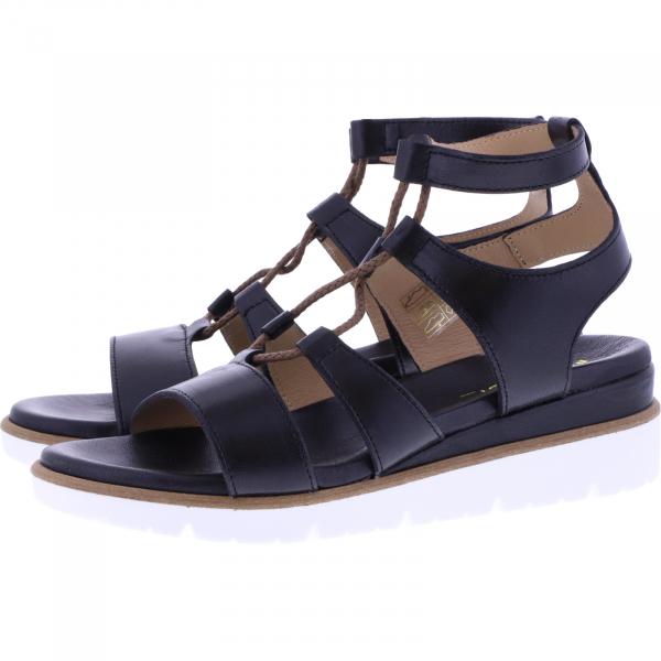 Piedi Nudi / Modell: Römer / Farbe: Schwarz Leder / Art.: 20647 / Damen Römer-Sandaletten