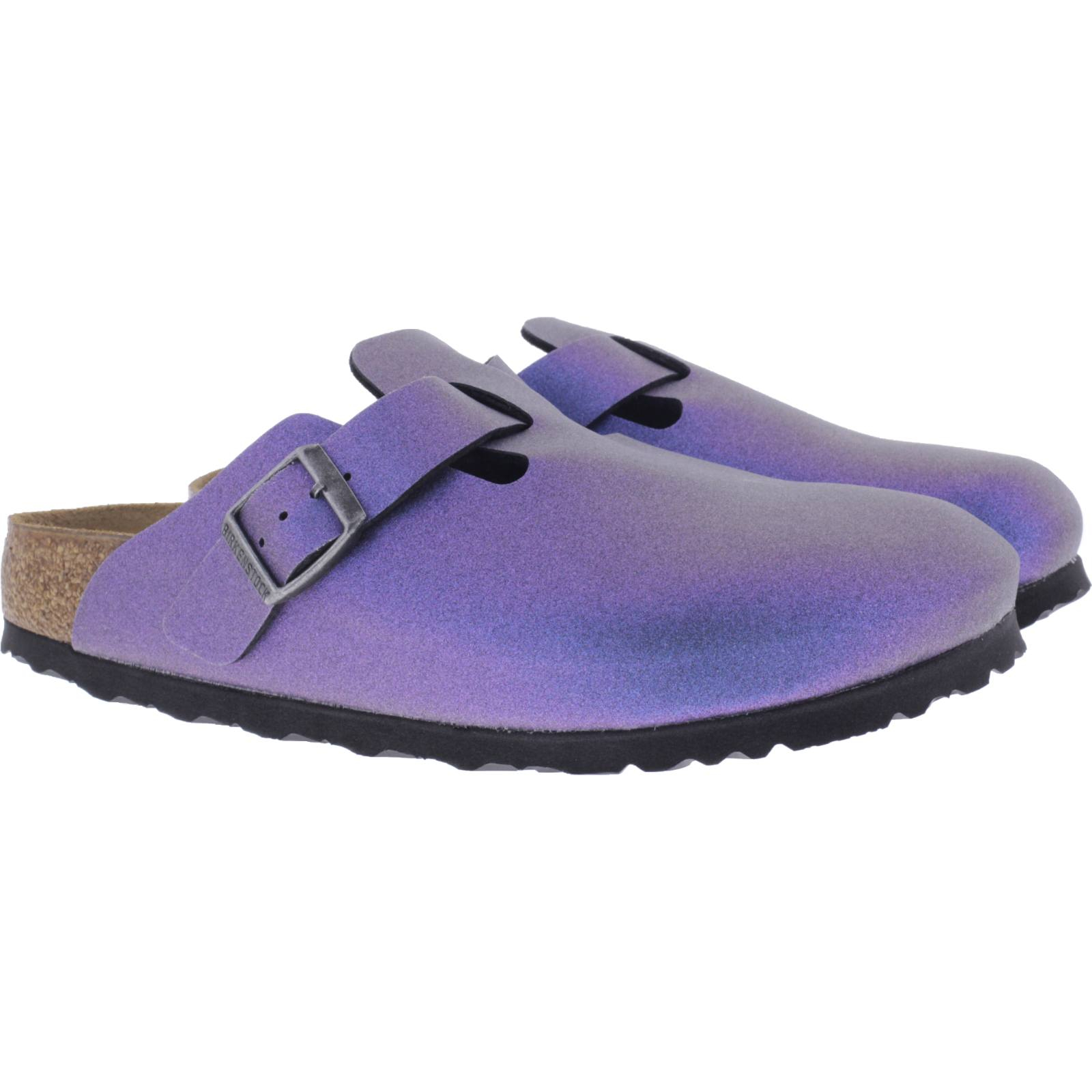 Birkenstock Modell: Boston Icy Metallic Stone Violet Weite: Schmal Art: 1014293 Clogs