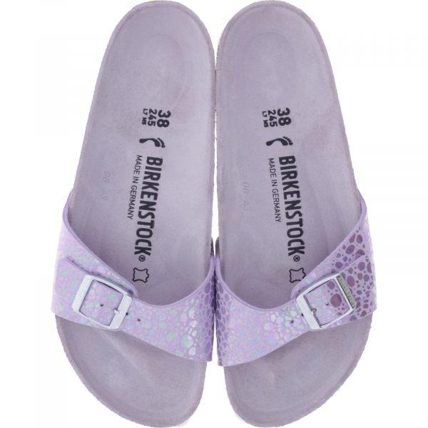 Birkenstock / Modell: Madrid / Metallic Stones Lilac / Weite: Schmal / Art: 1012938 / Damen Sandale