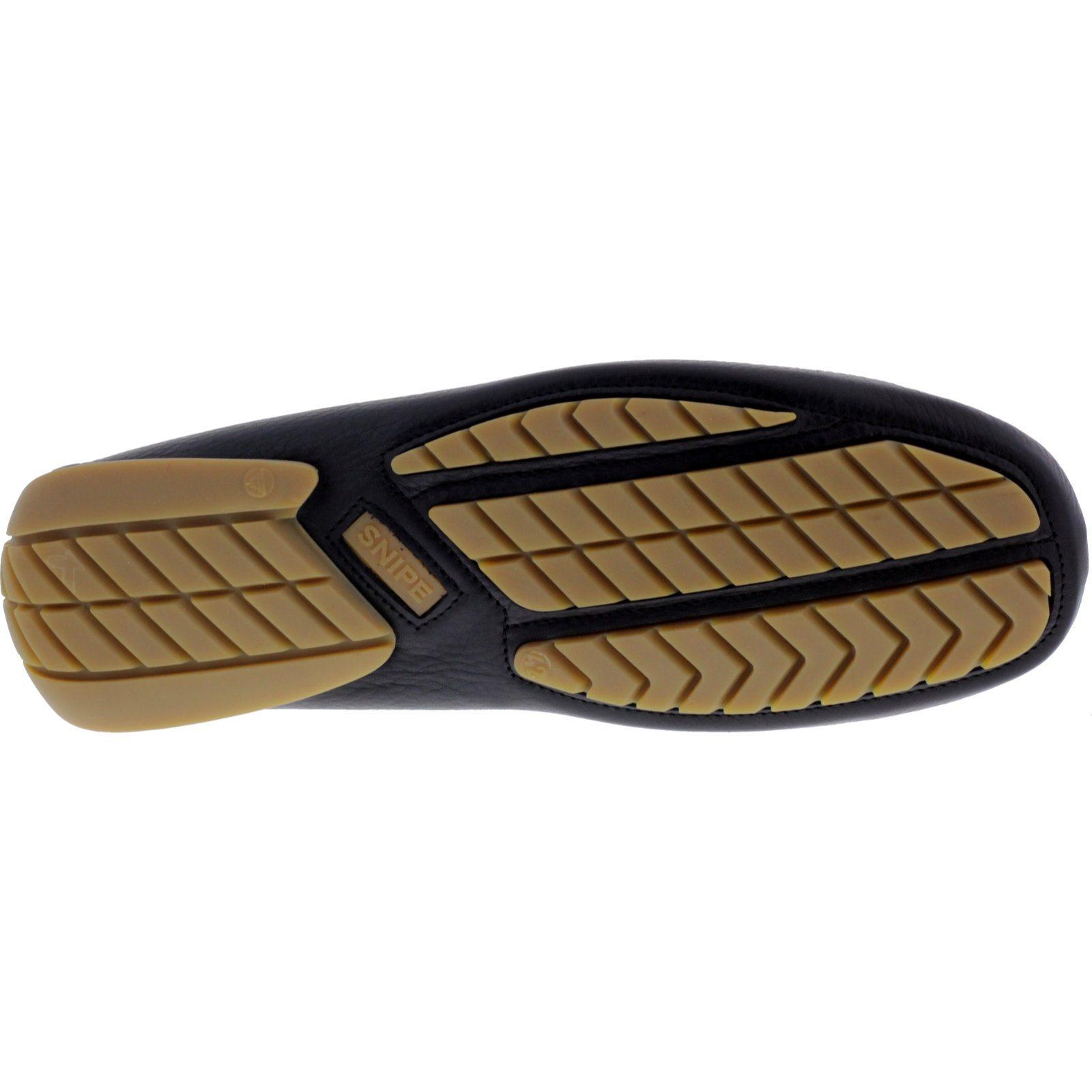 Negro Leder Ciervo Lavable Art Snipe Modell Mokkassin-Slipper waschbar