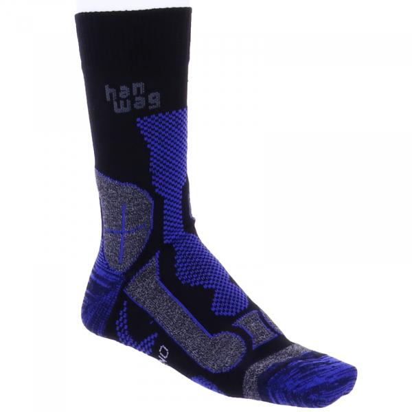 Hanwag / Wandersocken / Hanwag Trek Merino Socken / Black-Royal Blue / für Damen & Herren