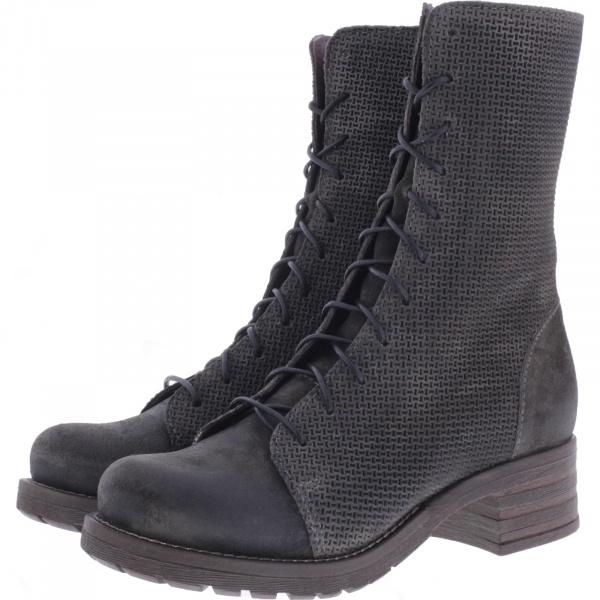 Brako / Modell: Military Tina / Antracita Grau Leder / Stiefel / Art: 8470 / Damen Stiefel