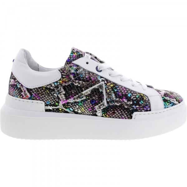 Ed Parrish Sneakers / Modell: Sarah / Snake-Iridescente / Kalbsleder / Wechselfußbett / Damen Sneakers