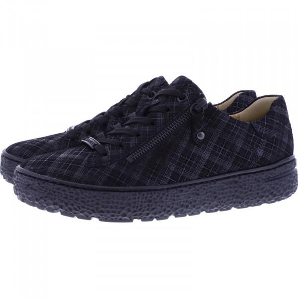 Hartjes / Modell: Phil / Schwarz Karo Leder / Weite: H / 140462-0100 / Damen Sneakers