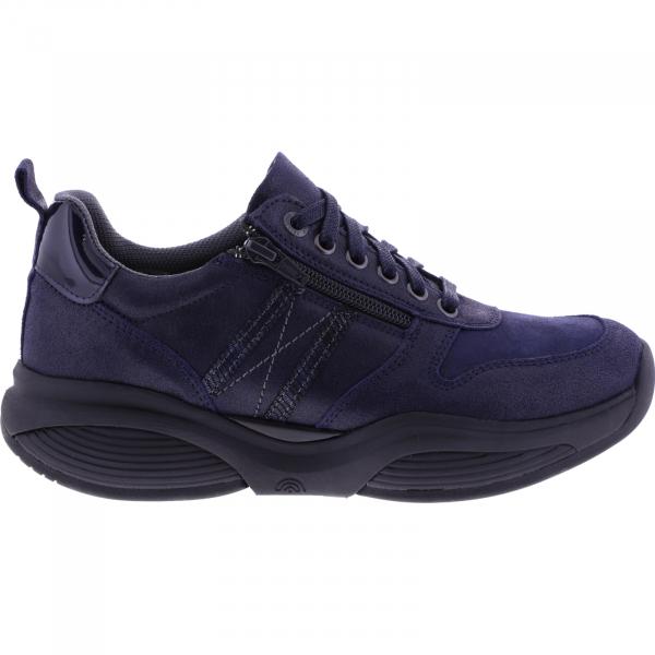 Xsensible Stretchwalker / Modell: SWX3 / Dark Blue Metallic Leder / Art: 300702-285 / Damen Sneakers