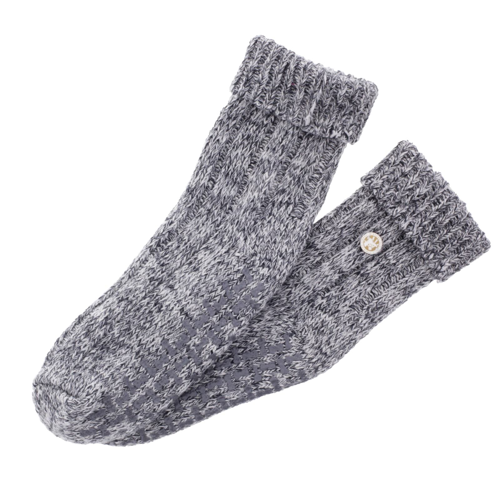 Birkenstock Damen Stopper Socken Twist HSH Hellgrau meliert