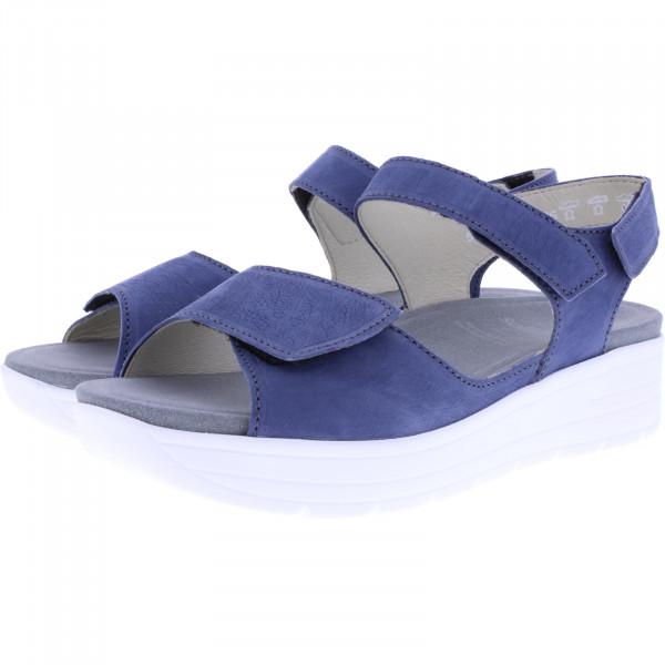 Solidus / Greta / Vintage Blau Leder / Weite: G / 48000-80008 / Damen Sandalen