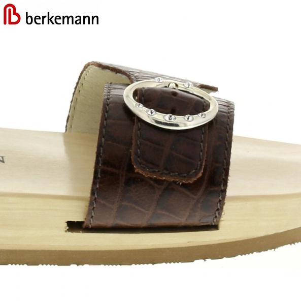 Berkemann Ersatzriemen-Wechselriemen Original-Sandale B100, B102, Mattbraun Kroko