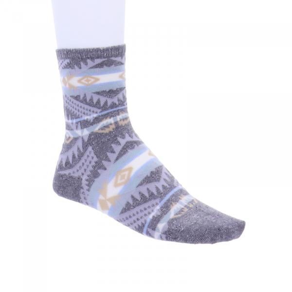 Birkenstock Damen Socken - Summer Linen Ethno - Whale Gray